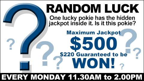 Monday Random Luck Pokie Gameshow Win